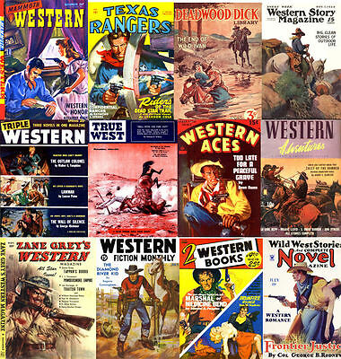Pulp Western Magazines 40 Golden Age Issues (80-195 pages each) on DVD Disc 2