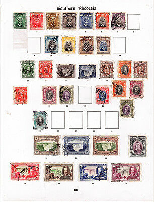 SOUTHERN  RHODESIA  1924-1936 on an album page