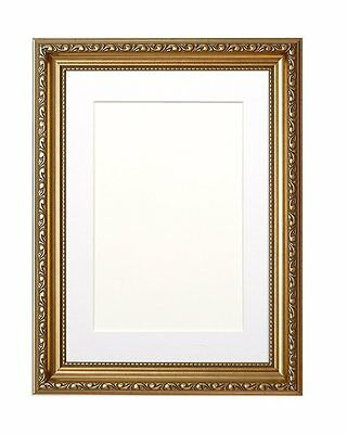 Ornate Shabby Chic Picture, Photo Frame Poster Frame with Bespoke Mount Gold