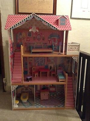 Elc Luxury Dolls House Mansion With Furniture & Toys