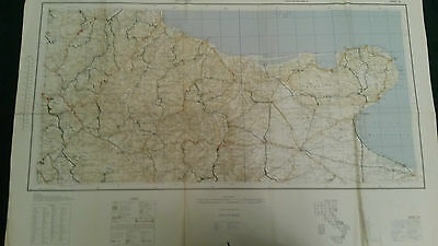 Original 1943 WW2 U.S. Army Invasion Map of Italy - Sheet 18 Foggia and Piedmont