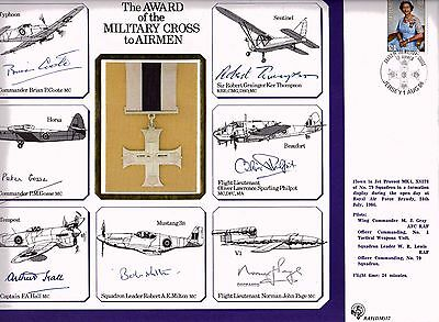 RAFDM12 1986 Signed A4 Cover The Award of the Military Cross to Airman