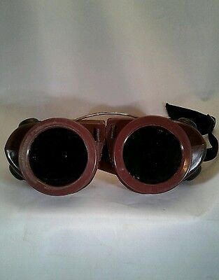 Vintage WILLSON Welding Motorcycle Goggles Goth Steampunk Cool