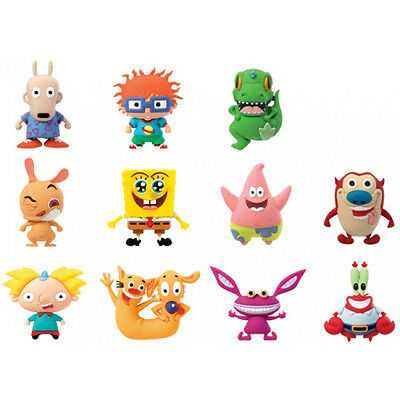 Nickelodeon 3D Collector Keyring Mr. Crabs Stimpy +10 -- U Choose! Series 1