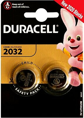 2032 Duracell Battery 2x Pack 3V Lithium Coin Cell DL2032/CR/BR2032 SB-T15 NEW