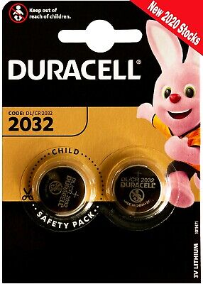2x 3V Duracell Lithium Coin Cell Battery DL2032/CR/BR2032