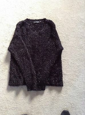 new look black sparkly jumper size 14