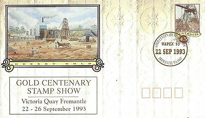 first day cover desert gold Australia 1993 with headgear stamp