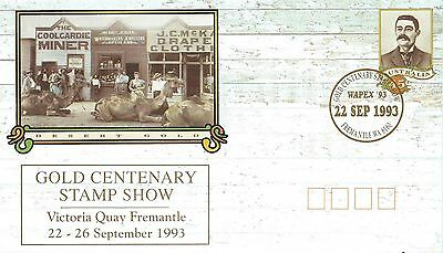 first day desert gold cover australia 1993 with Bailey stamp