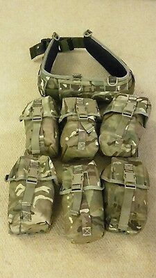 british military hip belt and pouches MTP medium