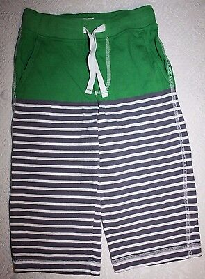 MINI BODEN Boys Baggies Shorts Green & Gray Stripes SIZE 7