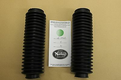 Norton Commando Fork Gaiters Pair Part Number 065743