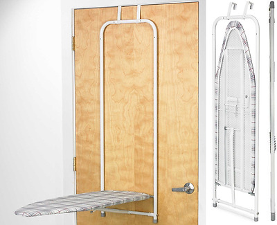 Polder Over The Door Ironing Board Space Saver With Holder Compact Storage New