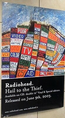 Radiohead  / uk promo poster from 2003 / Hail to the Thief