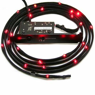 NZXT Red Sleeved LED Kit with PCI Light 200cm - Fast ship