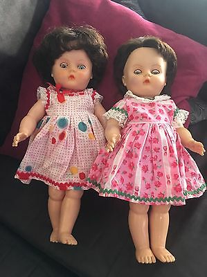 2x PEDIGREE Vintage Baby Dolls Collectors Made In NZ Hard Body 1950s