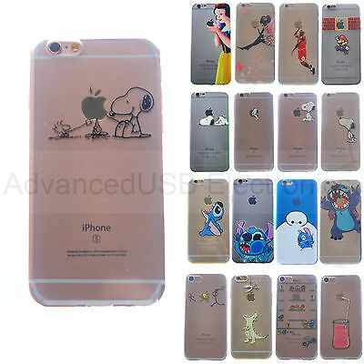FUNDA CARCASA SILICONA TPU iPHONE 5 6S 7 PRINCESA, SNOOPY STITCH MINNIE DISNEY