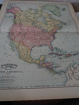 Rand, McNally & Co, Atlas of the World, Map of North America, 1892