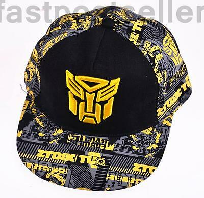 Kid Boys Transformers Snapback Baseball Cap Hat Adjustable Accessory Gift