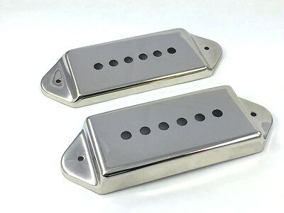 Nickel Metal Cover Set for P-90 P90 Style Dogear Guitar Pickups PC-0739-001