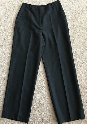 Women's Ann Taylor Brand Black, Fully Lined, Mid-Rise, Polyester Pants-sz 4