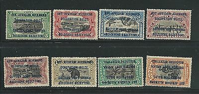 Belgian Congo Occupation Issues Fresh Mnh Lot