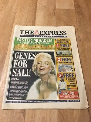 The Express On Saturday 29th March 1997 Marilyn Monroe - Genes for Sale