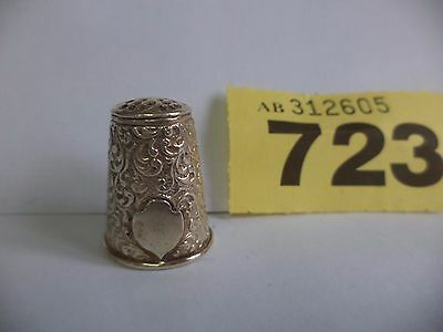 Vintage German Solid Silver Thimble with Ornate Decoration - London Import