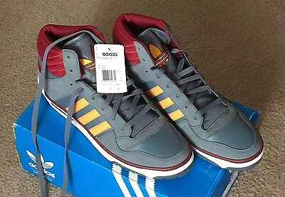 Adidas Grey Red Gold Post Player Vulc US Basketball Sneakers Shoes Men's Size 12