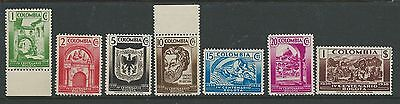 Colombia 1938 Bogota Set Mnh Light Tone On $1 Value See Second Scan.