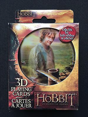 New The Hobbit 3D Playing Cards With Collectible Tin Limited Edition