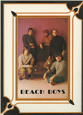 The Beach Boys 1968 Tour Program with pullout poster