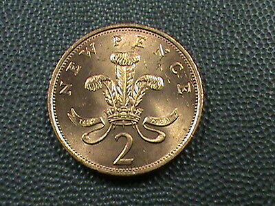GREAT  BRITAIN    2  Pence    1971    BRILLIANT  UNCIRCULATED