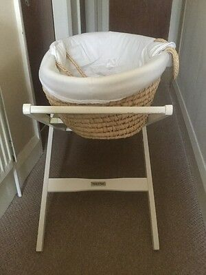Mamas And Papas Baby Moses Basket With Mattress, Stand