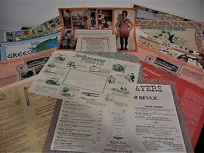 Vintage Lot Of 14 Restaurant Paper Placemats Usa Canada Greece Hawaii Place Mats