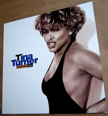 TINA TURNER 1991 Original Simply The Best Promo Album Flat Poster
