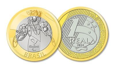 Brazil - 2016 Rio Olympic Games - 1 Real Coin - Paratriathlon