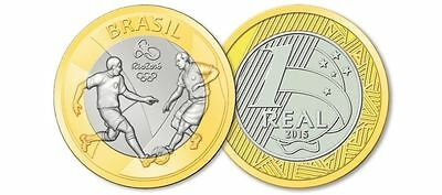 Brazil - 2016 Rio Olympic Games - 1 Real Coin - Football / Soccer