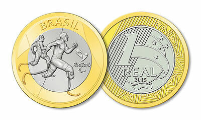 Brazil - 2016 Rio Olympic Games - 1 Real Coin - Paralympic Athletics