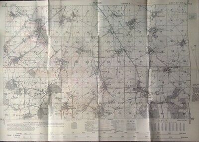 Somme Battlefield. New WW1 trench map Guillemont - Le Sars. Warlencourt. Ginchy