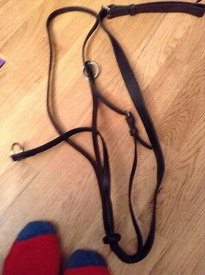 Brown Imported Leather Full Size Running Martingale