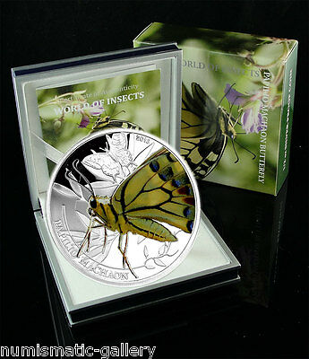 PALAU 2 DOLLARS 2013 Silver PF BUTTERFLY - Papilio Machaon