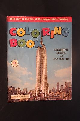 Vintage 1960's Empire State Building & New York City Coloring Book (King Kong)