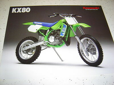 Kawasaki 1989 KX80 - L/N2 NOS.Sales Brochure 2 Pages.