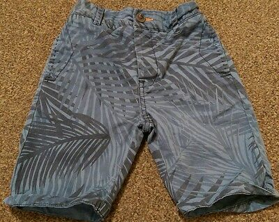 Boys Next age 6 years blue palm print mid length shorts holiday summer
