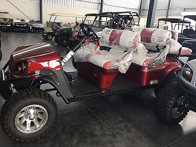 BRAND-NEW-2017-EZGO-Express-L6 ELECTRIC -GOLF-CART-ATV MAROON 2017
