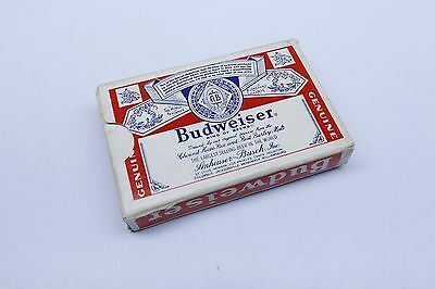 Vintage Budweiser King of Beers Plastic Coated Playing Cards Bridge Size USA