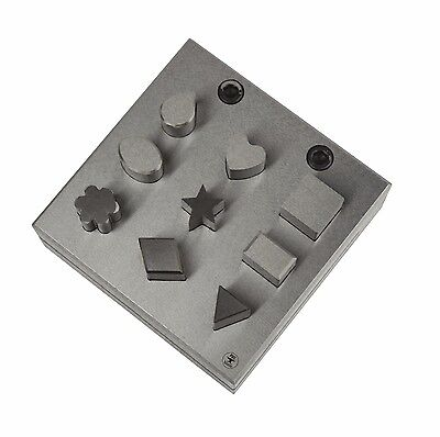 9 Piece Disc Cutter Set 12 mm Assorted Shaped Metal Forming Stamping Blanks