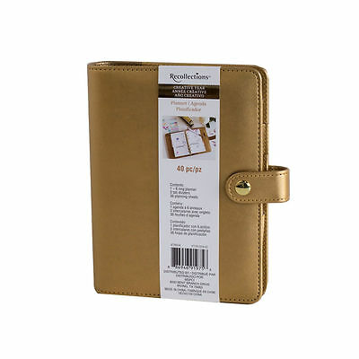 Gold Recollections Creative Year Planner agenda  40 pz