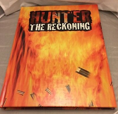 Hunter: The Reckoning Roleplaying Game. Rare Hardcover. White Wolf. Horror RPG.